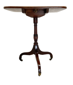 George III Mahogany Square Tilt Top Tripod Table
