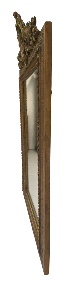 Napoleon III Crested Gilt Mirror