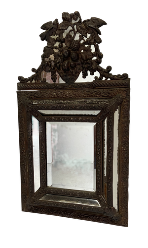 Repousse Brass Cushion Mirror