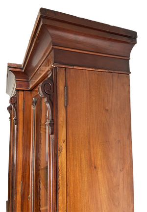 Mahogany Glazed Breakfront Bookcase