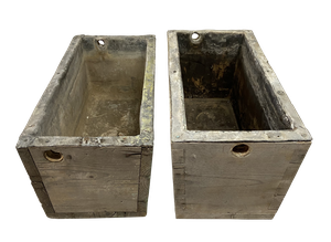 Two Painted Pine Lead Lined Cisterns