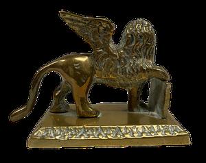 Grand Tour Brass Winged Lion of Saint Mark