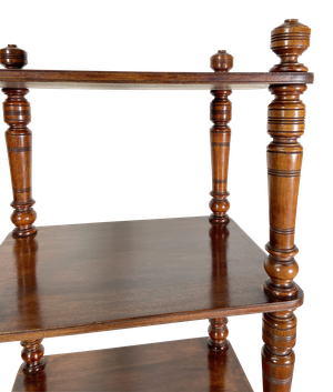 Mahogany Four Tiered Wot Not
