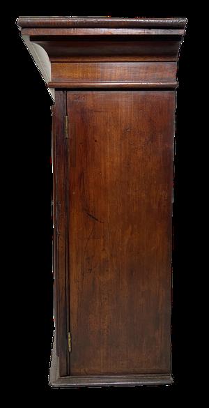 Glazed Mahogany Veneered Wall Cabinet with Original Glass