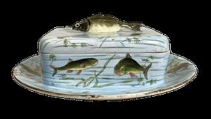 Georges Dreyfus Paris Depose Lidded Sardine Dish