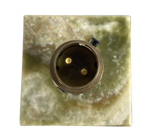 Green Onyx Corinthian Column Table Lamp with Ormolu Mounts