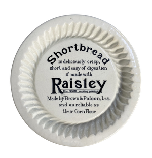 Edwardian Brown and Polson Ironstone Advertising Shortbread Dish