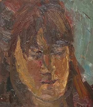 Oil on Board Portrait of Female