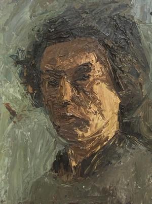 Oil on Board Portrait of Male