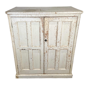Hand Scraped Old Painted Pine Country House Cupboard