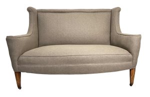 Two Seat Winged Sofa on Square Tapering Legs