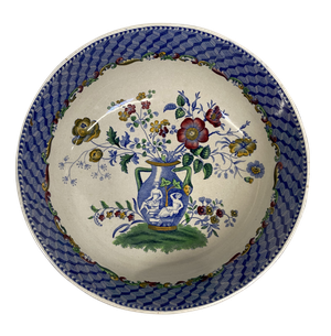Copeland Spode Fruit Bowl with Central Decoration of Classical Vase with Flowers