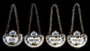 Staffordshire Ceramic Spirit Decanter Labels
