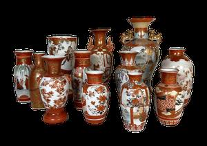 Collection of Twelve Various Kutani Vases