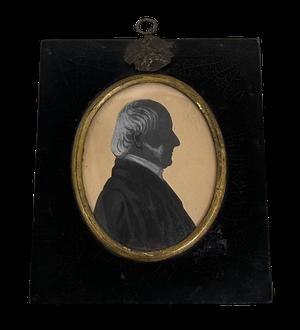 George III Miniature Silhouette of Gentleman