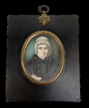 George III Miniature on Ivory Panel Portrait of Female