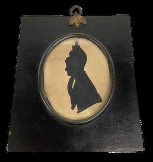 George III Miniature Silhouette of a Lady