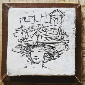 Question Bell tile/plaque. We've always loved the Bloomsbury Group, so we were gery pleased to find this tile yesterday. DM if you would like any further information. Have a lovey week!  #quentinbell #bloomsburygroup #vannessabell #duncangrant #charleston #britishartist #britishart #artistsoninstagram #art #originalart #antiquedealersofinstagram #antiquesaregreen #antiquepainting #ceramicart #ceramics #interiordecorating #interiors #interiordesign #interiorinspiration