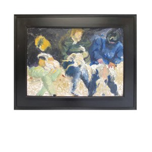 The Turkey Pluckers.  It's Monday morning and time to feast your eyes on this English, late C20th, oil on board of abstract scene.  Entitled The Turkey Pluckers inscribed Anni Fitzgerald.  Visit our website for full details, link in bio.  #antiquesaregreen #antiquesdealersofinstagram #antiquesforsale #antiquesandcollectables #antiqueinteriors #antiquedecor #antiquesforsale #antiques #interiordecorating #interiors #interiordesign #interiordecorator #interiorstyling #interiordecoration #interiorinspiration #Uplands #Ledbury #Wellingtonheath #Herefordshire
