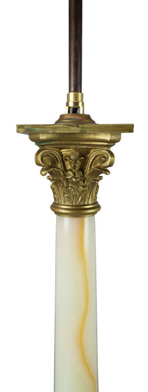 Onyx and Ormolu Corinthian Column Lamp