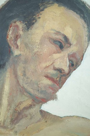 Mounted Oil on Canvas of Male Portrait