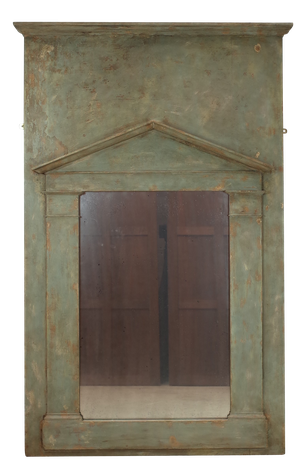 Painted Pine Trumeau Mirror