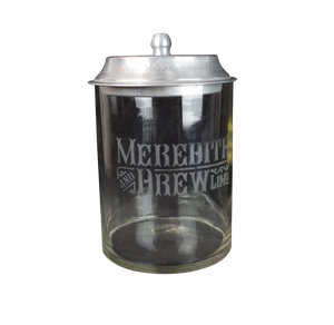 Meredith and Drew Glass Biscuit Jar