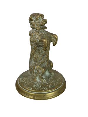 Small Bronze Figure of Terrier