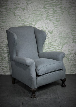 Late Victorian Wingback Armchair