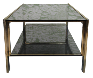 Brass and Chrome Plated Coffee Table