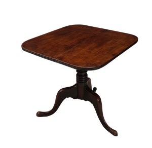 Mahogany Square Top Tripod Table