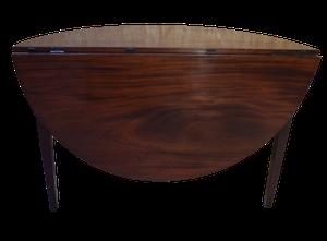 George III Mahogany D-end Drop Leaf Table