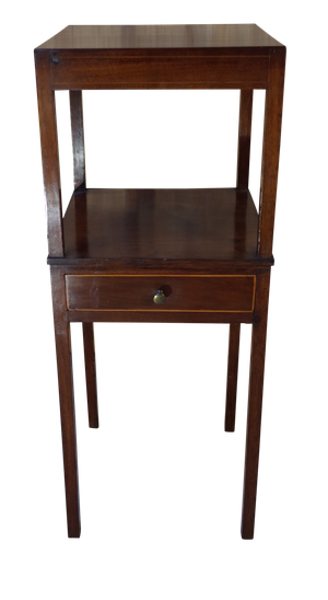 Mahogany and Yew Inlaid Night Stand