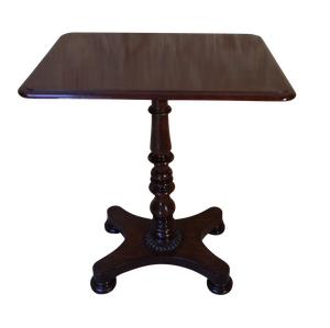 Rectangle Top Mahogany Pedestal Table