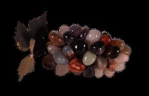 Bunch of Gilt Metal Gemstone Grapes