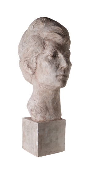 Studio Plaster Bust of Woman