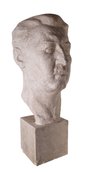 Large Studio Plaster Bust of Man