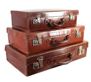 Collection of Three Leather Suitcases