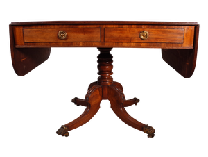 George III Mahogany Sofa Table with Two Drawers