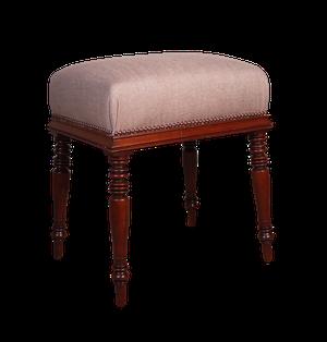 Upholstered Mahogany Stool