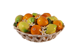 Casa Pupo Centre Piece of Oranges and Lemons in a Lattice Bowl