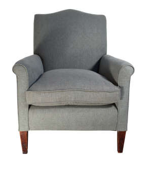 Edwardian Upholstered Armchair on Square Tapering Legs