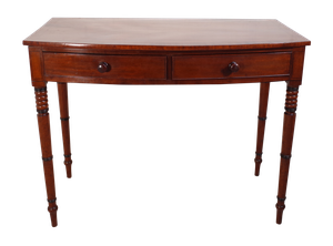 Early Victorian Mahogany Bow Fronted Writing Table