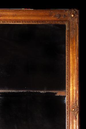 Gilt Mirror with Original Mercury Split Plate