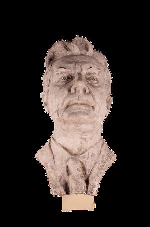 Studio Plaster Bust of Male