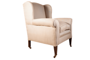 Wingback Armchair on Mahogany Square Tapering Legs
