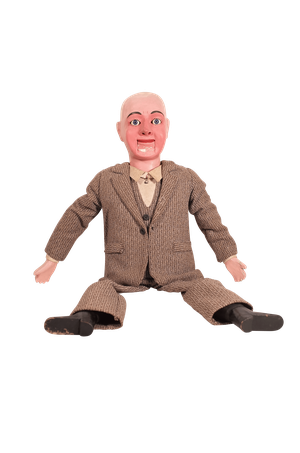 Articulated Ventriloquist Dummy in Original Costume