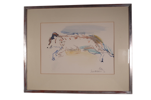 Watercolour of Polly the Dog Reclining by Isabel McWhirker