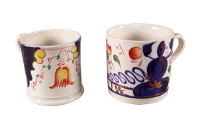Two Gaudyware Cups