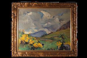 Oil on Board of Highlands Landscape